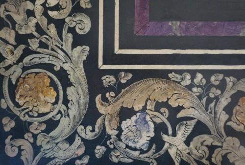 Louis XIV - 17th Century Italian Polychrome Scagliola Table Top