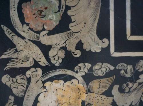 Antiquités - 17th Century Italian Polychrome Scagliola Table Top
