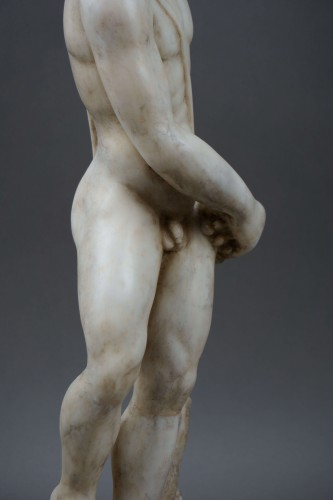 <= 16th century - 16th century Italian Mitological Marble Sculpture Bacchus