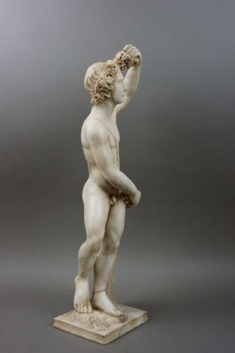 Antiquités - 16th century Italian Mitological Marble Sculpture Bacchus