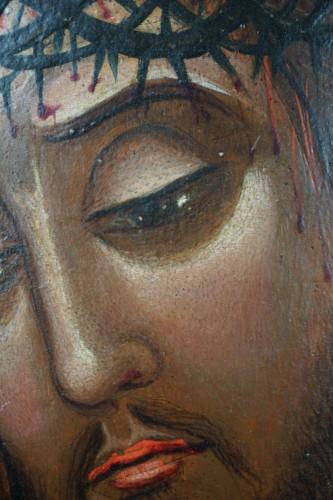 Paintings & Drawings  - 16th century Veneto-Cretan Master, Nymphios, Tempera on Gilt Panel