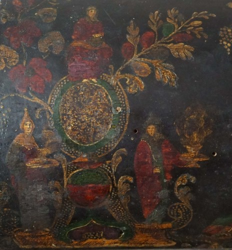 17th century -  17th century Italian Venetian lacquer casket box