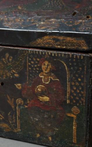 Antiquités -  17th century Italian Venetian lacquer casket box