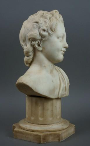 Sculpture  - 17th Century, Italian Baroque Marble Bust Portrait Of Boy