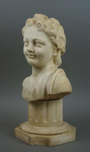 17th Century, Italian Baroque Marble Bust Portrait Of Boy -