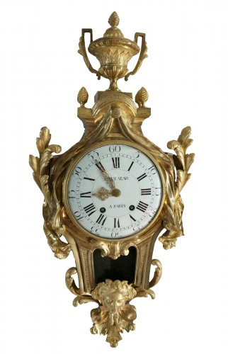18TH CENTURY IMPOSING LOUIS XV GILT BRONZE CARTEL CLOCK BALTAZAR CLOCKMAKER