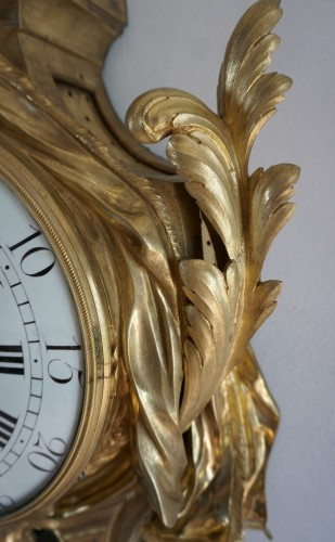 18TH CENTURY IMPOSING LOUIS XV GILT BRONZE CARTEL CLOCK BALTAZAR CLOCKMAKER - Louis XV