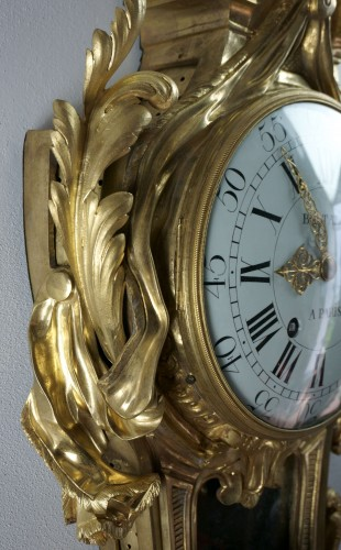 Louis XV - 18TH CENTURY IMPOSING LOUIS XV GILT BRONZE CARTEL CLOCK BALTAZAR CLOCKMAKER