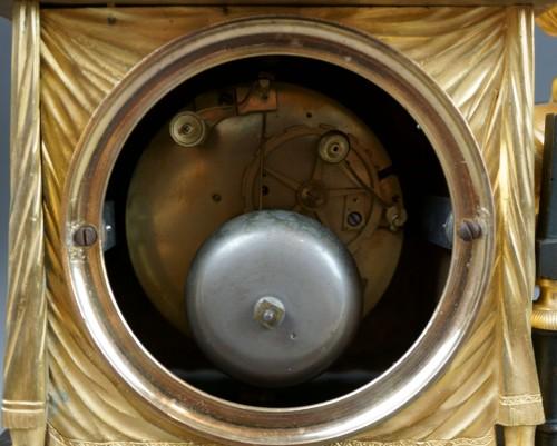 """Antiquités - Empire period clock """"La Liseuse"""" Gilt Bronze"""