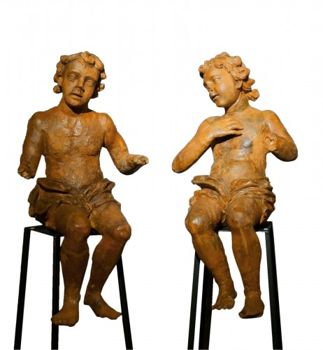 Pair of Large Renaissance Terracotta Sculptures Lombardy, 16th century