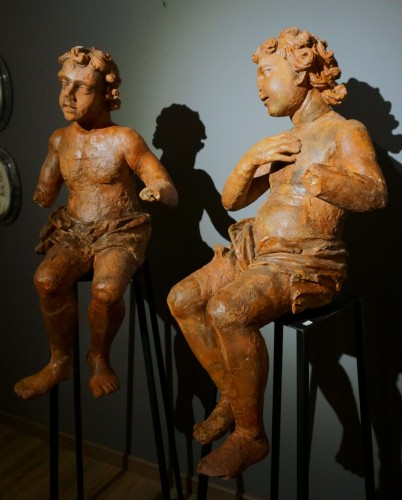 Pair of Large Renaissance Terracotta Sculptures Lombardy, 16th century - Renaissance