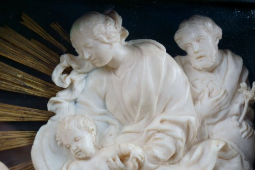 Religious Antiques  - 17th century ivory carved roman baroque composition