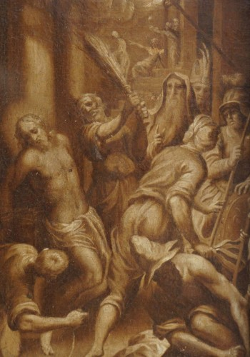 Jacopo Negretti - Palma the Younger (1579-1629) The Flagellation of Christ - Paintings & Drawings Style