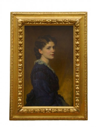 George Peter Alexander Healy (1808-1894) - Portrait Of Madame Word With Frame