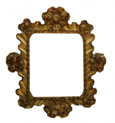Baroque Frame Carved Golden Wood Italy 17th Century