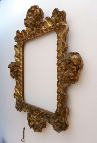 Baroque Frame Carved Golden Wood Italy 17th Century - Mirrors, Trumeau Style