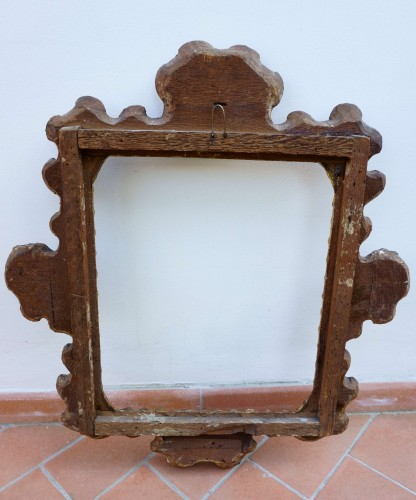 - Baroque Frame Carved Golden Wood Italy 17th Century
