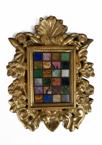 17th Italian Baroque Frame with Marmothèque