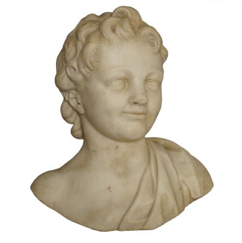 17th Century, Italian Baroque Roman Marble Bust