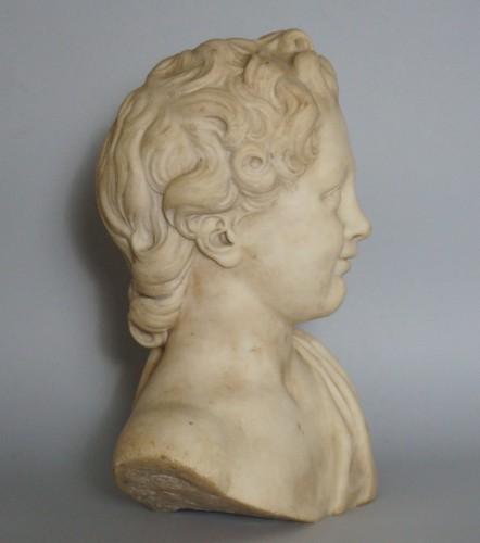 17th Century, Italian Baroque Roman Marble Bust  - Sculpture Style Louis XIV
