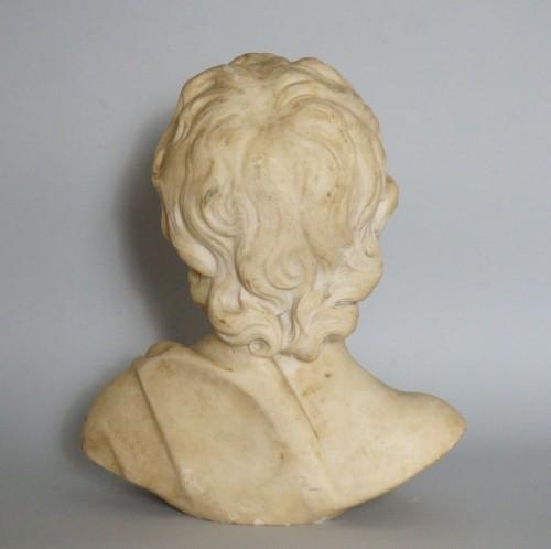 17th Century, Italian Baroque Roman Marble Bust  -