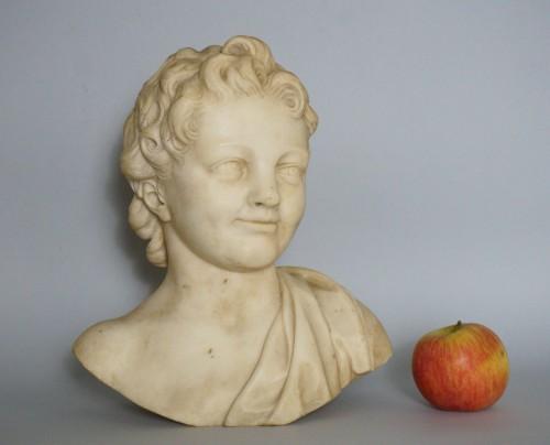 17th century - 17th Century, Italian Baroque Roman Marble Bust