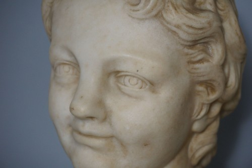 17th Century, Italian Baroque Roman Marble Bust  - Louis XIV