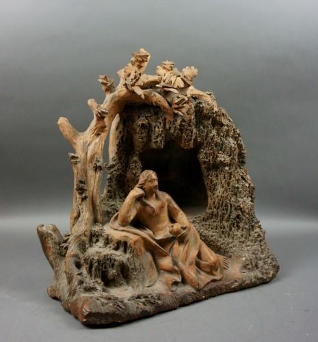 Penitent Magdalene 17th century Terracotta - Sculpture Style Louis XIV