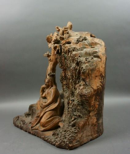 Sculpture  - Penitent Magdalene 17th century Terracotta