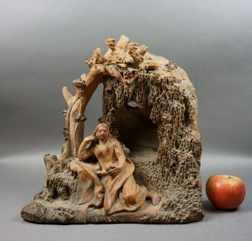 Antiquités - Penitent Magdalene 17th century Terracotta