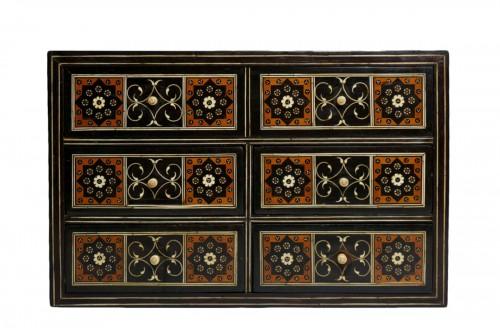 16th century Indo-Portuguese cabinet, Sadeli mosaic, Gujarat or Sindh