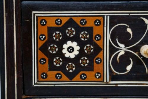 Furniture  - 16th century Indo-Portuguese cabinet, Sadeli mosaic, Gujarat or Sindh