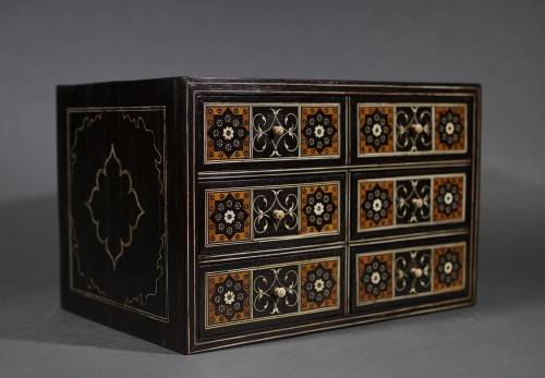 16th century Indo-Portuguese cabinet, Sadeli mosaic, Gujarat or Sindh  -