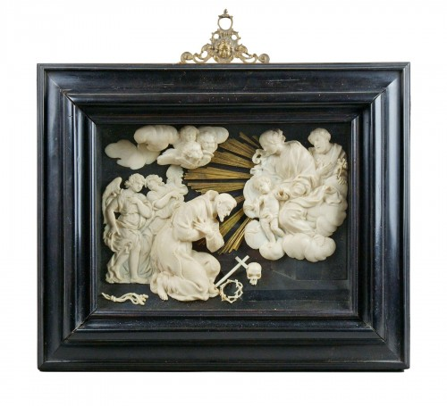 17th century ivory carved roman baroque composition