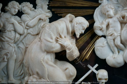 17th century ivory carved roman baroque composition - Religious Antiques Style Louis XIV