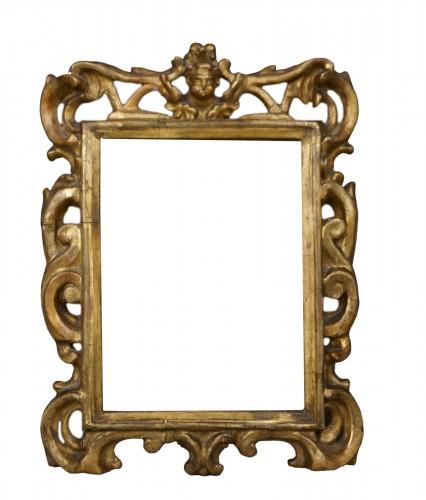 Venetian Sansovino Carved And Gilded Wood Frame 18th