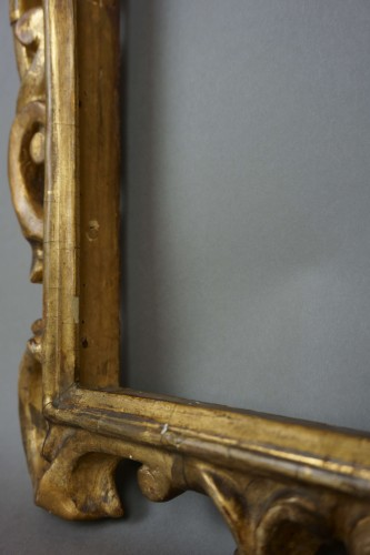 Venetian Sansovino Carved And Gilded Wood Frame 18th -