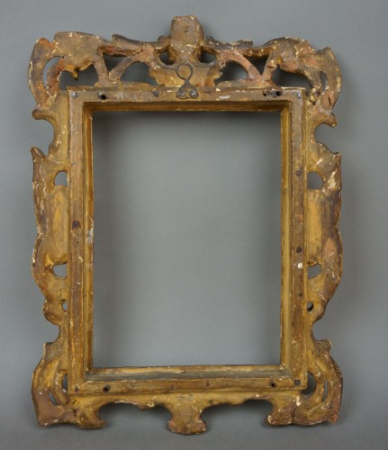 18th century - Venetian Sansovino Carved And Gilded Wood Frame 18th