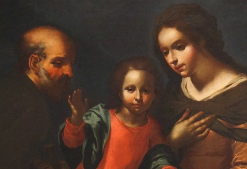 Giovanni Andrea de Ferrari (Genoa, 1598-1669) - The Holy Family - Paintings & Drawings Style