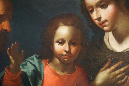 Giovanni Andrea de Ferrari (Genoa, 1598-1669) - The Holy Family -