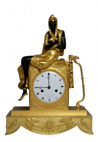 Empire Blackamoor Mantel Clock