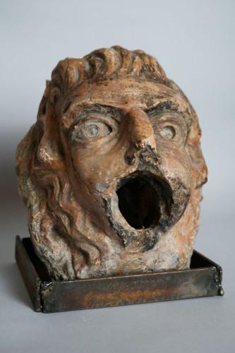 16th Renaissance Red Marble Grotesque Mask - Sculpture Style Renaissance
