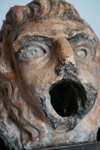 16th Renaissance Red Marble Grotesque Mask -
