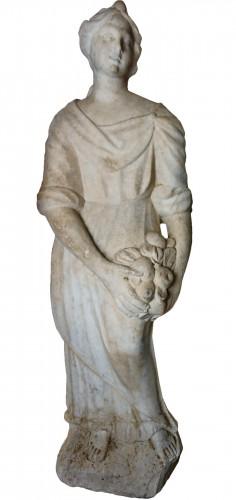 Pomona - Baroque Sculpture in Carrara Marble, Italy 17th century