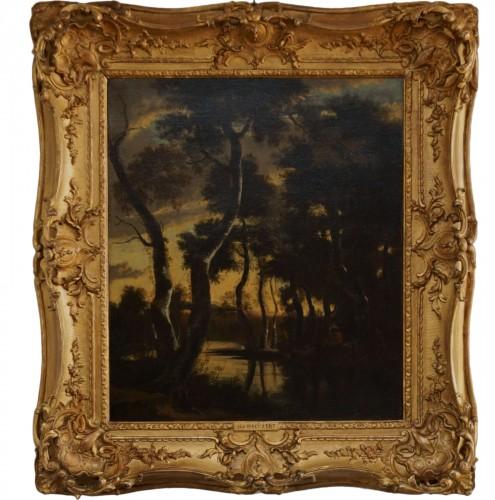 Jan Hackaert (1628-1685) - Wooded landscape