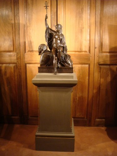 "Bronze sculpture ""Egyptian"" by LJ Franceschi - Sculpture Style Napoléon III"