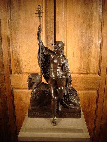 """Sculpture  - Bronze sculpture """"Egyptian"""" by LJ Franceschi"""
