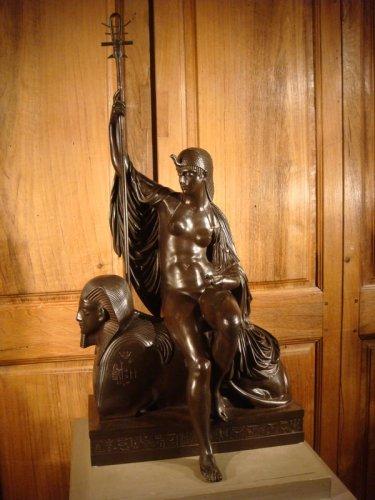 """Bronze sculpture """"Egyptian"""" by LJ Franceschi -"""