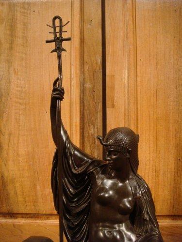"19th century - Bronze sculpture ""Egyptian"" by LJ Franceschi"