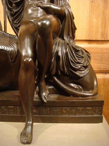"""Bronze sculpture """"Egyptian"""" by LJ Franceschi - Napoléon III"""